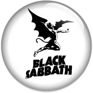 Chapa Black Sabbath Blanca