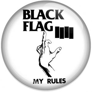 Chapa Black Flag rules blanca