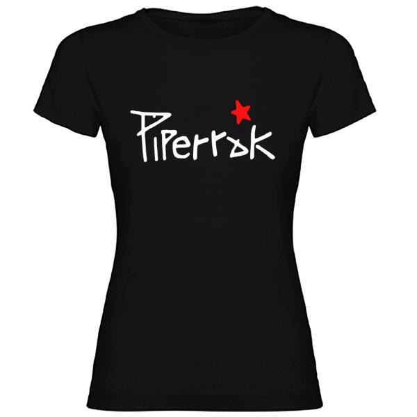 Camiseta Piperrak Negra Mujer