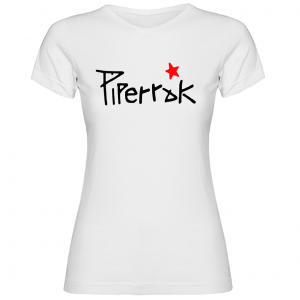 Camiseta Piperrak Logo blanca mujer