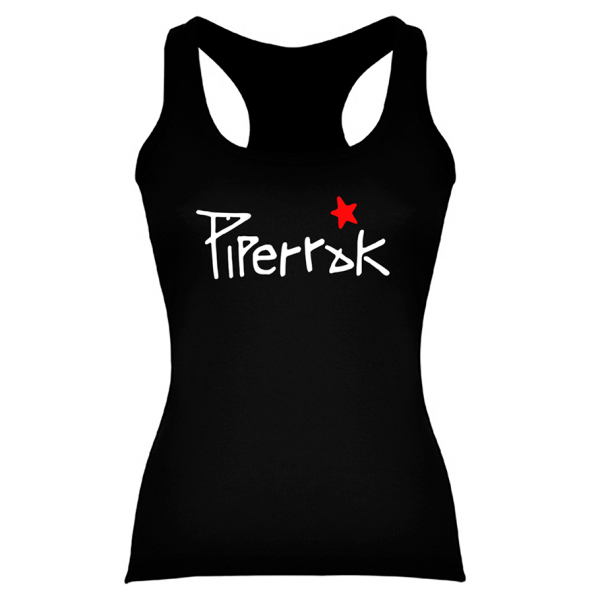Camiseta Piperrak Negra Mujer Tirantes