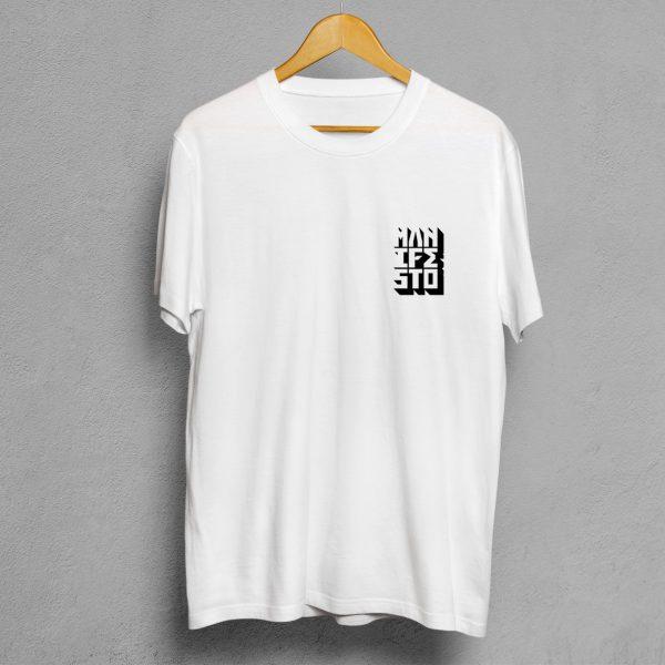 Camiseta Manifesto Logo Blanca Hombre.