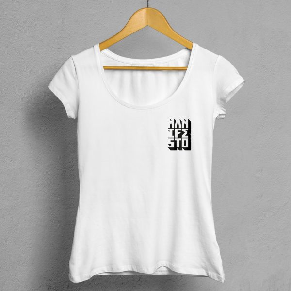 Camiseta Manifesto Logo Blanca Mujer.