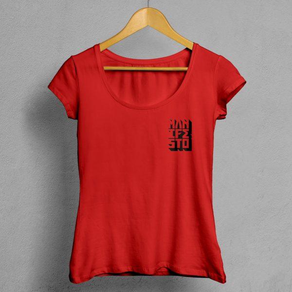 Camiseta Manifesto Logo Roja Mujer