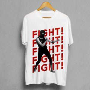 Camiseta Manifesto FIGHT-FIGHT-FIGHT blanca hombre
