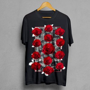 Camiseta Manifesto Trece Rosas negra hombre
