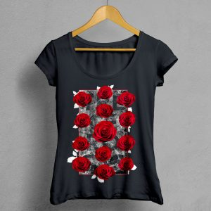 Camiseta Manifesto Trece Rosas negra mujer