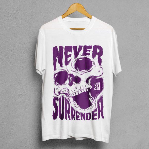 Camiseta Manifesto Never Surrender Blanca Hombre