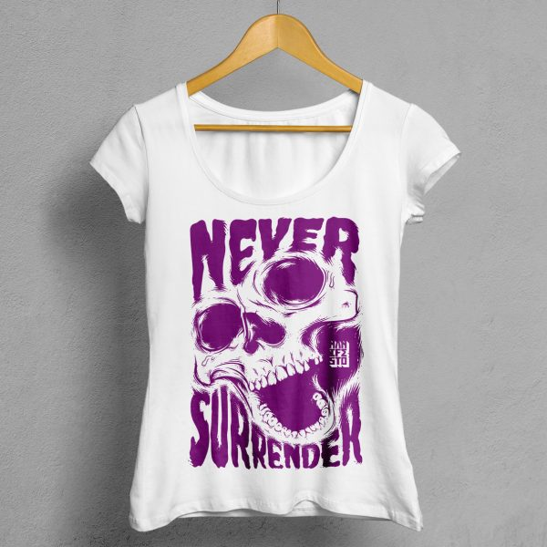 Camiseta Manifesto Never Surrender Blanca Mujer