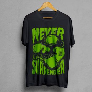 Camiseta Manifesto Never Surrender Negra hombre