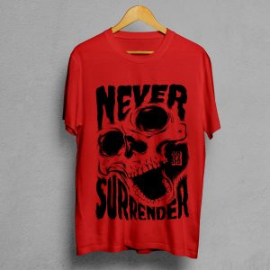 Camiseta Manifesto Never Surrender Roja Hombre