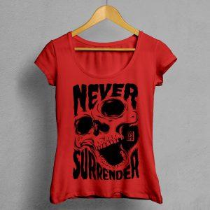 Camiseta Manifesto Never Surrender Roja Mujer