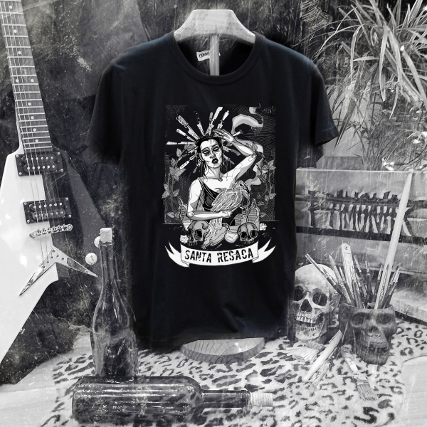 Camiseta Ramonak Santa Resaca Negra Hombre