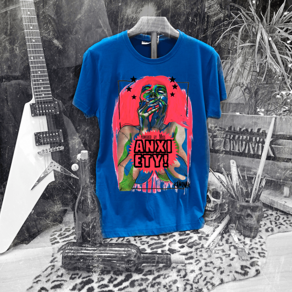 Camiseta Ramonak Miss Anxiety Azul Hombre