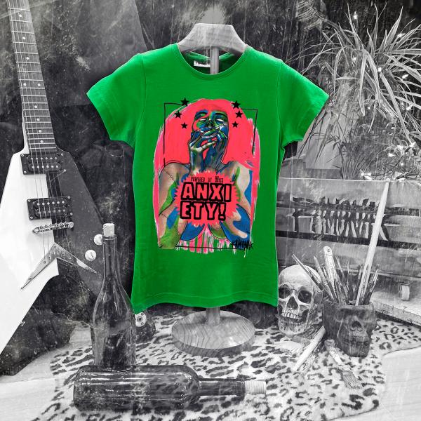 Camiseta Ramonak Miss Anxiety verde