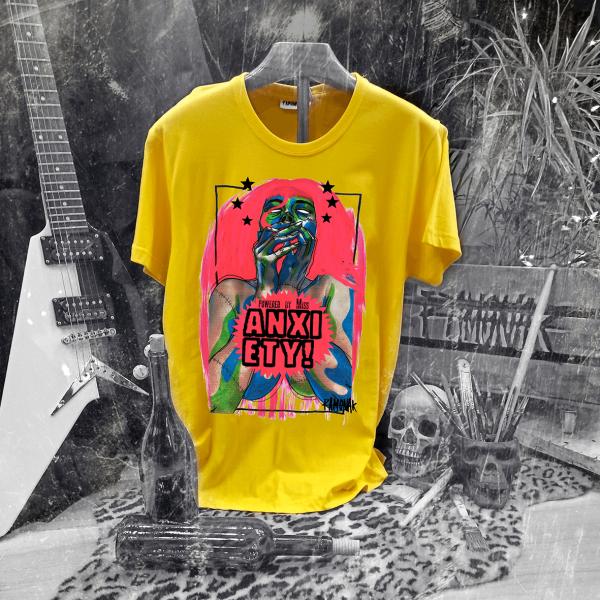 Camiseta Ramonak Miss Anxiety Amarilla Hombre