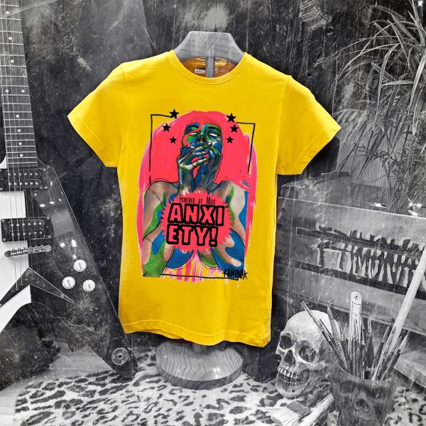 Camiseta Ramonak Miss Anxiety Amarilla