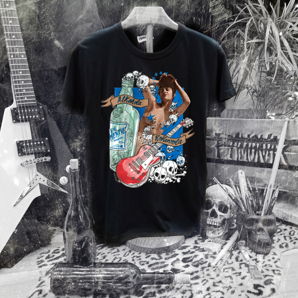 Camiseta Ramonak Eh Mertxe Negra Hombre