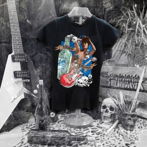 Camiseta Ramonak Eh Mertxe Negra Mujer