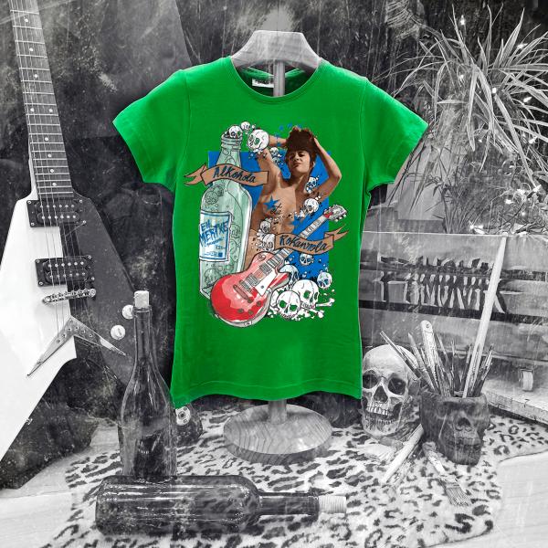 Camiseta Ramonak Eh Mertxe Verde Mujer