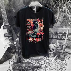 Camiseta Ramonak Santa Cecilia negra hombre