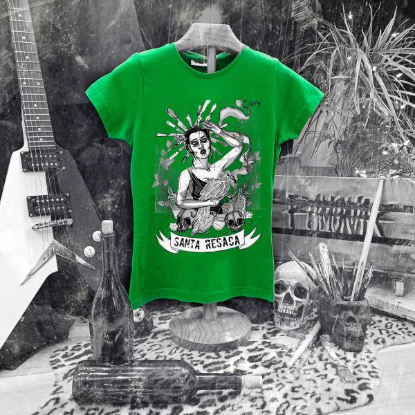 camiseta ramonak santa resaca verde mujer