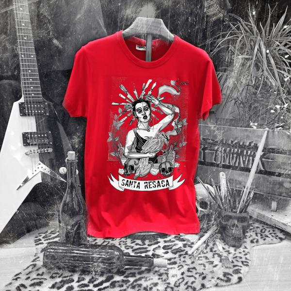 Camiseta Ramonak Santa Resaca roja hombre