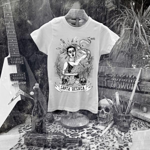 camiseta ramonak santa resaca blanca mujer