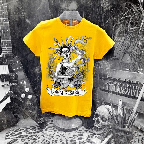 camiseta ramonak santa resaca amarilla mujer